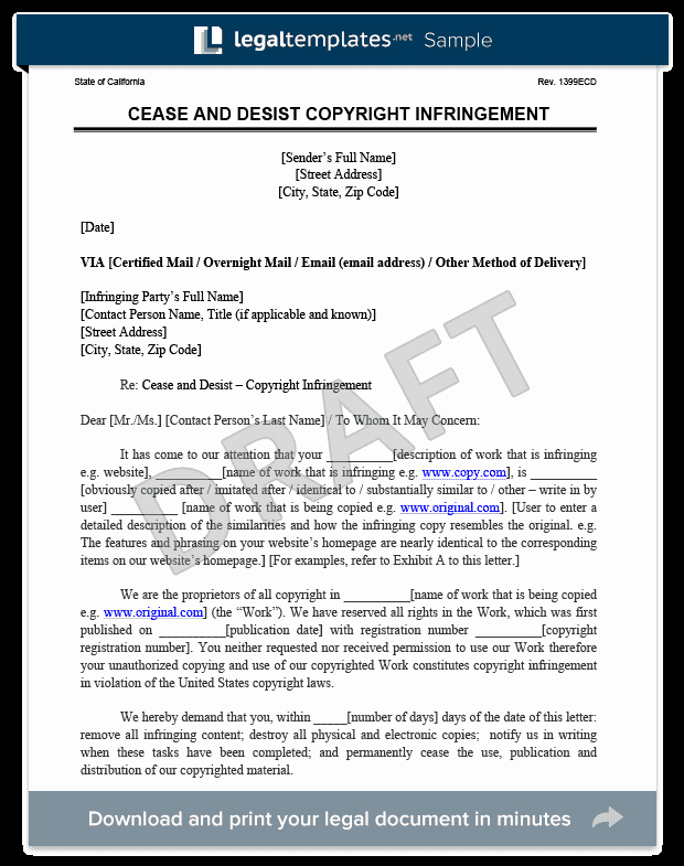 Free Cease and Desist Letter Luxury Cease and Desist Letter C&d