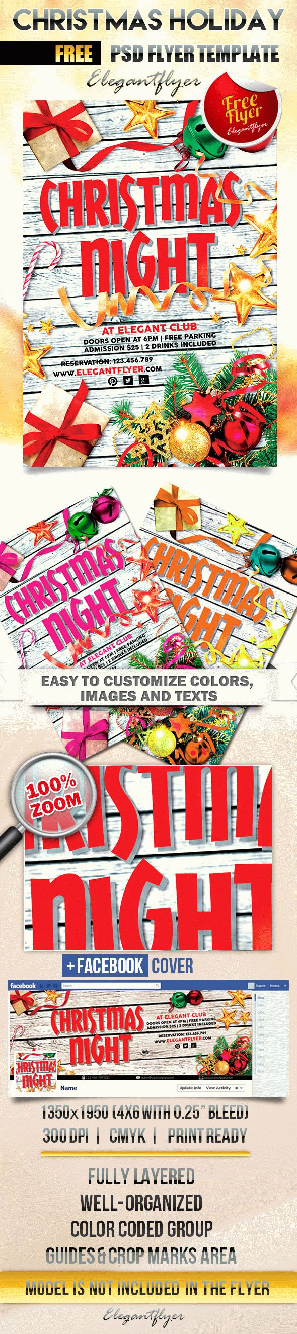 Free Christmas Flyer Templates Awesome Christmas Holiday – Free Flyer Psd Template – by Elegantflyer