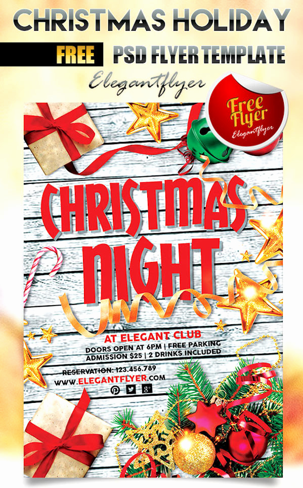 Free Christmas Flyer Templates Elegant 25 Best Free Christmas Flyer Templates Dzineflip