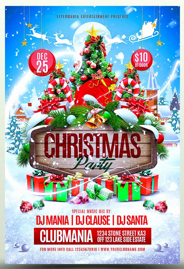 Free Christmas Flyer Templates Elegant 25 Christmas & New Year Party Psd Flyer Templates – Bashooka