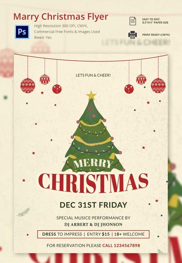 Free Christmas Flyer Templates Inspirational 30 Free Christmas Templates & Designs Psd Word