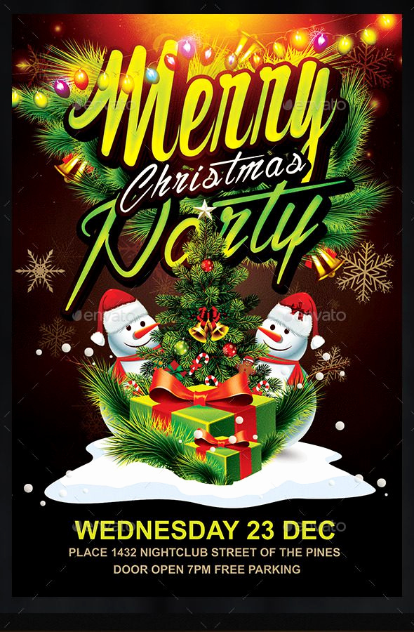 Free Christmas Flyer Templates Luxury 30 Free Christmas Party Flyers and New Year Party Flyer
