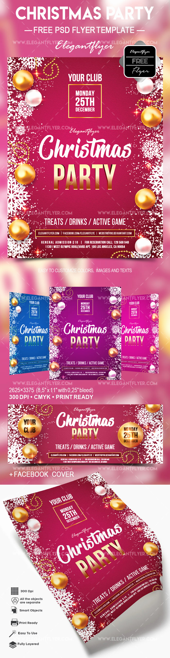 Free Christmas Flyer Templates New Free Christmas Party – Flyer Psd Template – by Elegantflyer