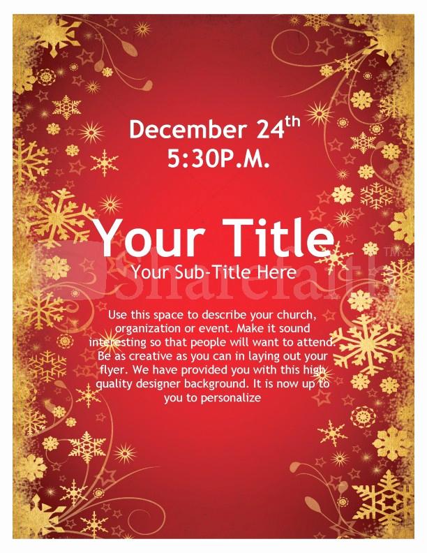 Free Christmas Flyer Templates New Joy Christmas Flyer