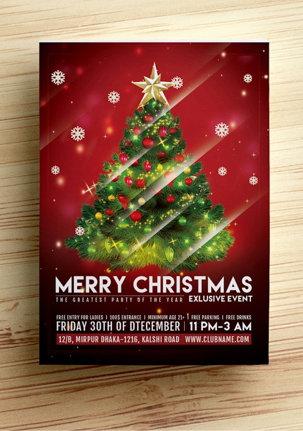 Free Christmas Flyer Templates Unique Christmas Flyer Template Free