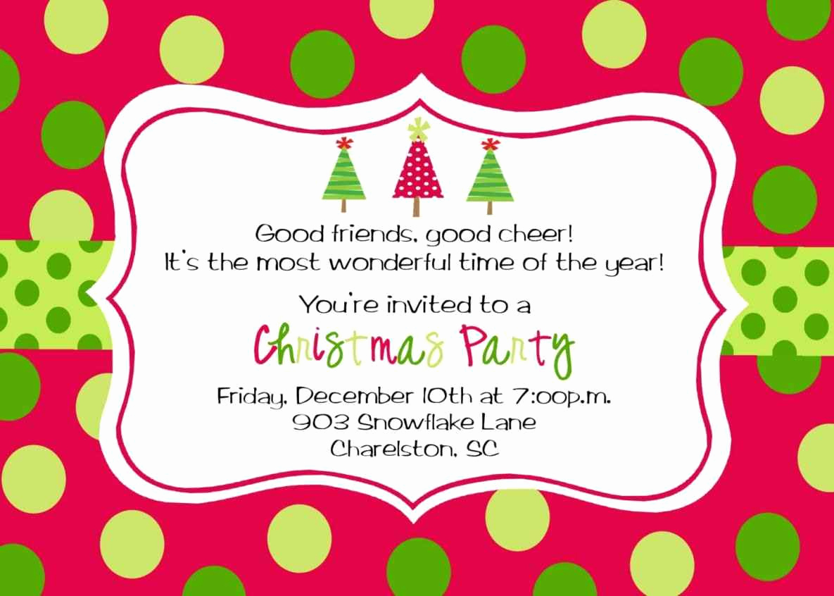 Free Christmas Invitation Templates Awesome Free Printable Christmas Party Invitations Template