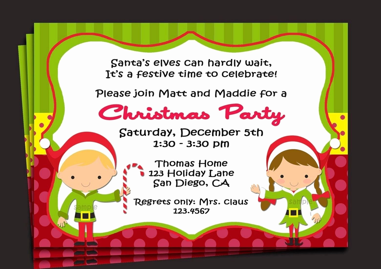 Free Christmas Invitation Templates Beautiful Sample Invitation for Christmas Party