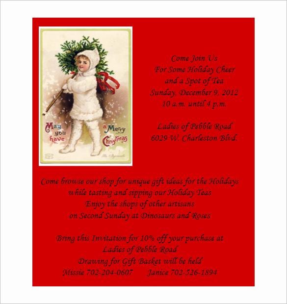 Free Christmas Invitation Templates Inspirational 50 Microsoft Invitation Templates Free Samples