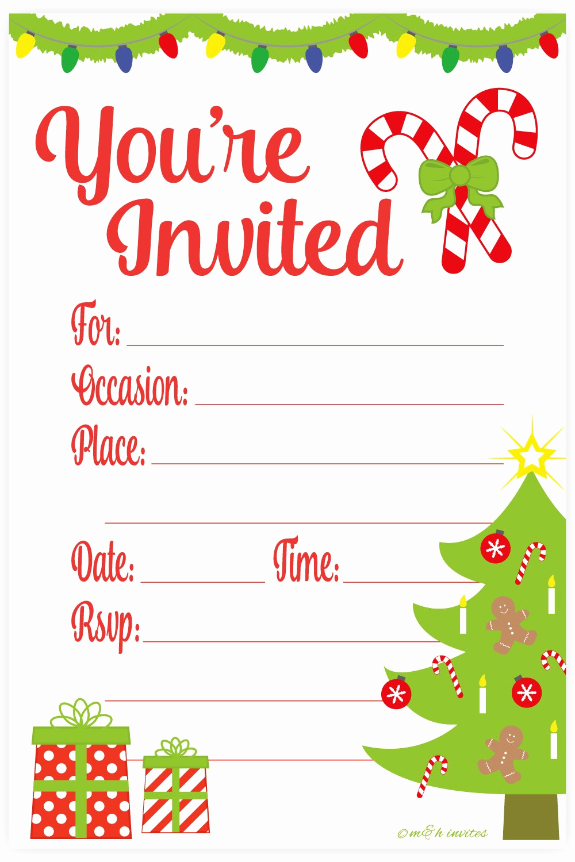 Free Christmas Invitation Templates New Amazon Snowflake Classic Christmas Invitations Fill