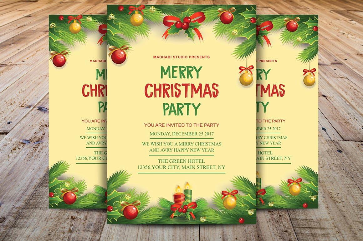 Free Christmas Invitation Templates Unique Christmas Invitation Template Flyer Templates Creative
