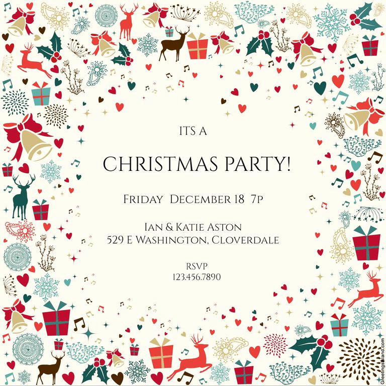 Free Christmas Party Invitation Templates Beautiful 15 Free Christmas Party Invitations that You Can Print