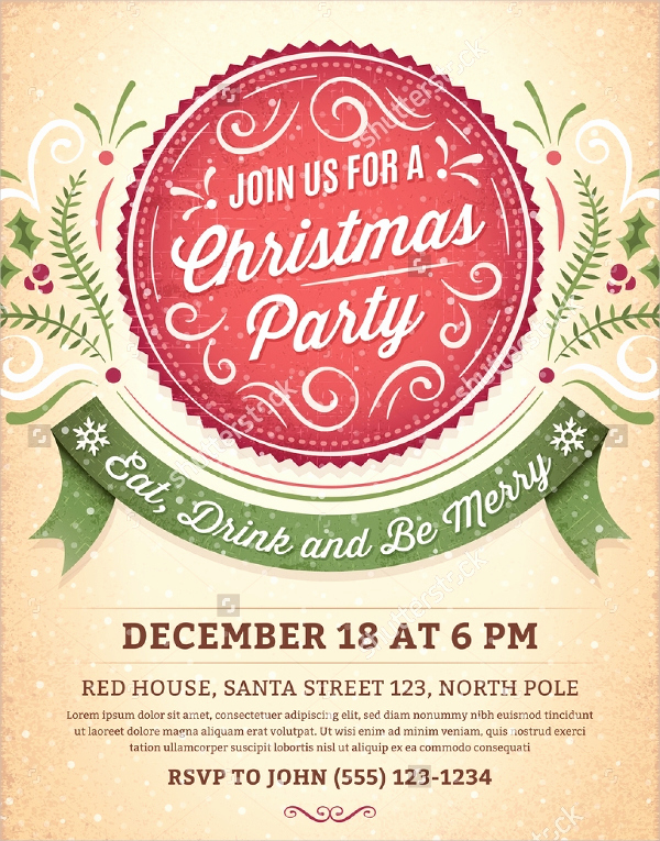 Free Christmas Party Invitation Templates Best Of 32 Christmas Party Invitation Templates Psd Vector Ai