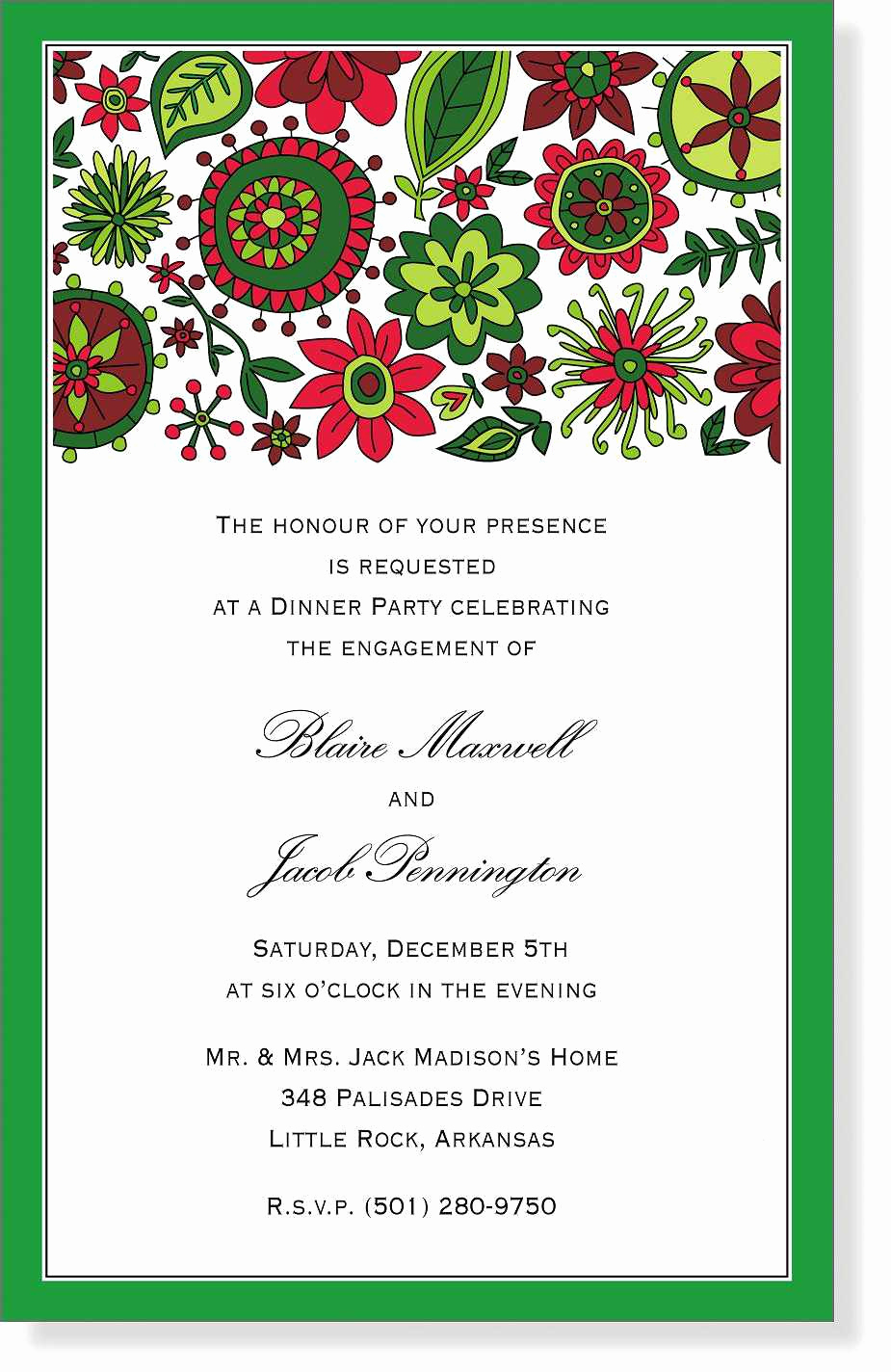 Free Christmas Party Invitation Templates Fresh Free Dinner Party Invitation Template