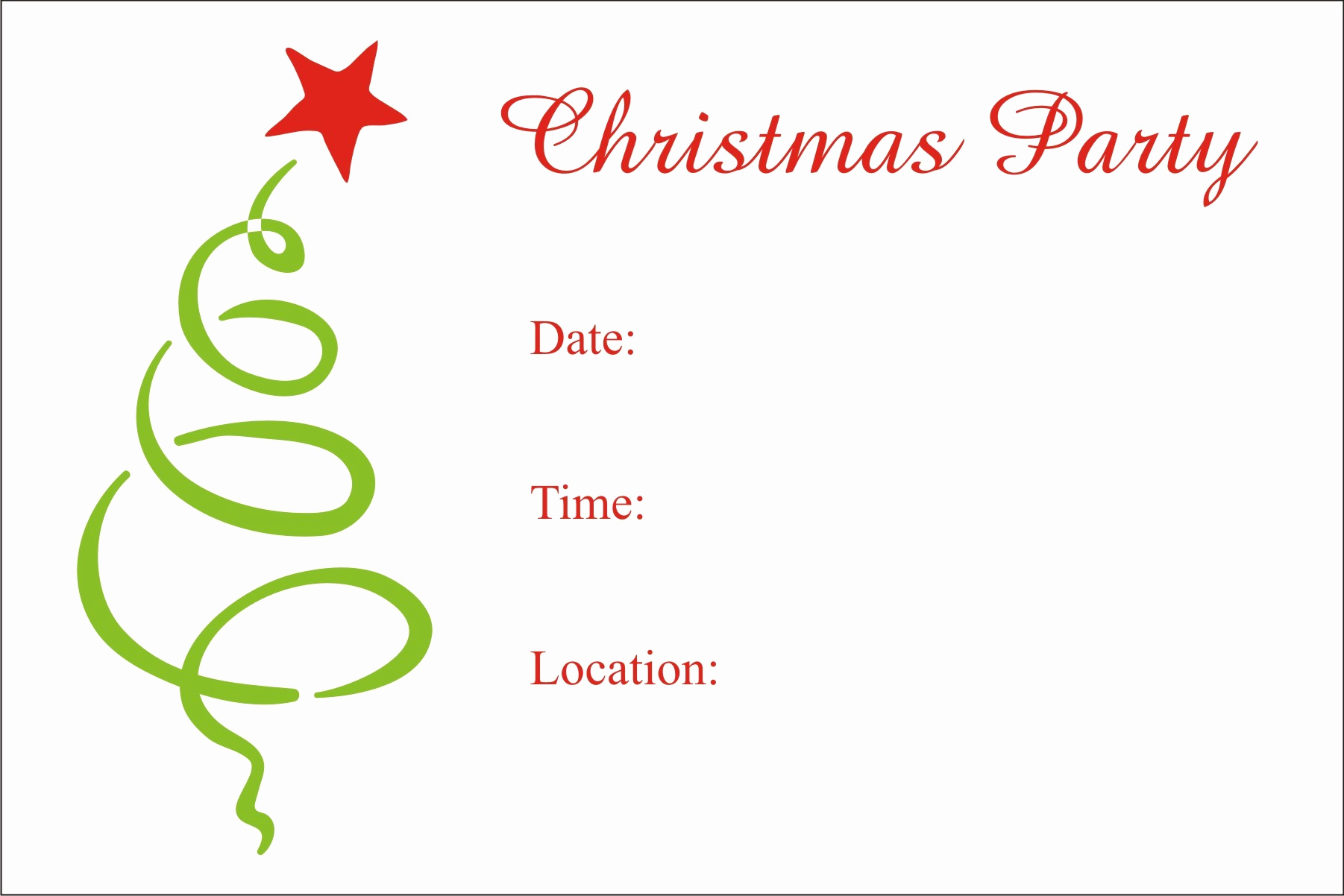 Free Christmas Party Invitation Templates New Christmas Party Free Printable Holiday Invitation