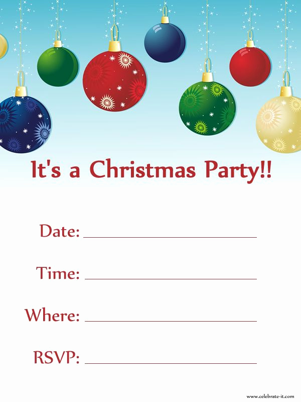 Free Christmas Party Invitation Templates Unique Christmas Party Invitation Free Download