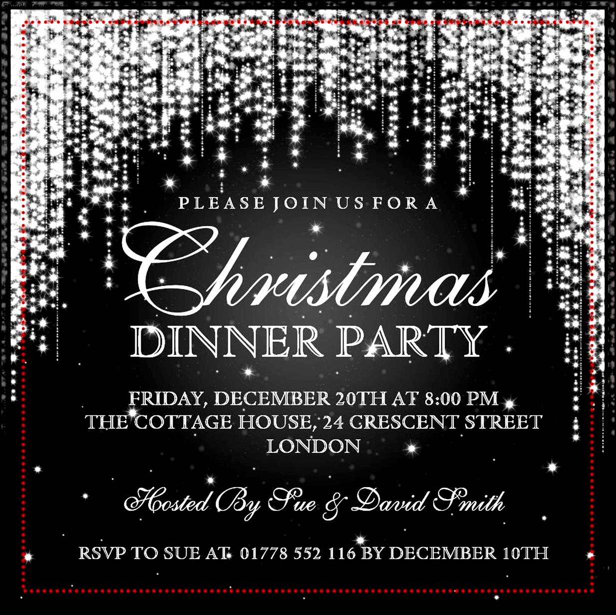 Free Christmas Party Invitations Template Awesome Christmas Invitation Template