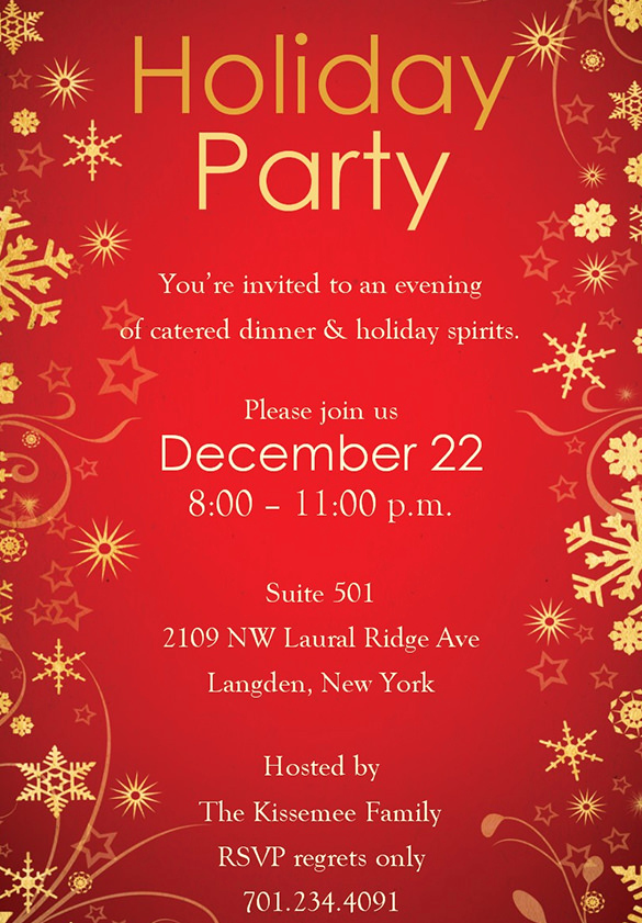 Free Christmas Party Invitations Template Awesome Holiday Invitation Template – 17 Psd Vector Eps Ai Pdf