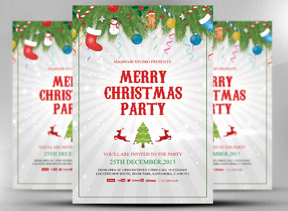 Free Christmas Party Invitations Template Beautiful 32 Christmas Invitation Templates Psd Ai Word