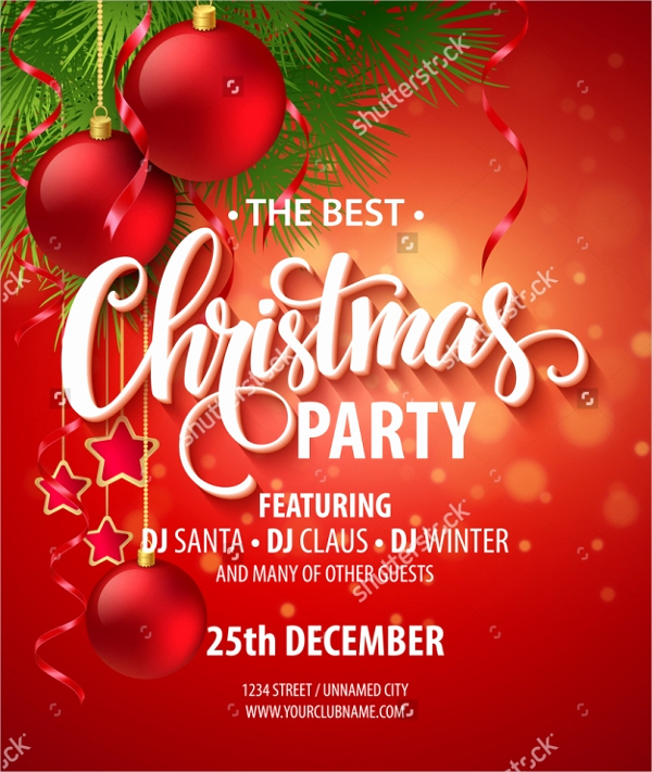 Free Christmas Party Invitations Template Beautiful 32 Christmas Party Invitation Templates Psd Vector Ai