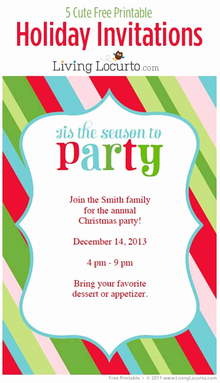 Free Christmas Party Invitations Template Beautiful 5 Free Printable Holiday Party Invitations