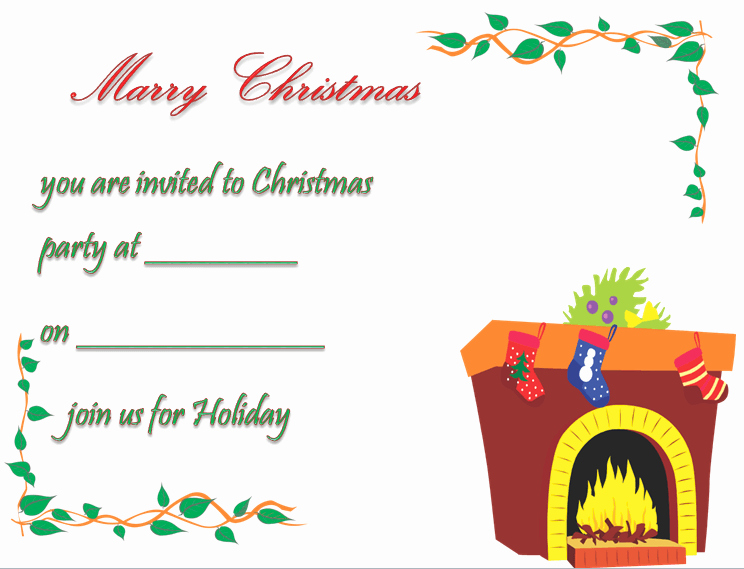 Free Christmas Party Invitations Template Elegant Christmas Party Invitation Template Free & Printable