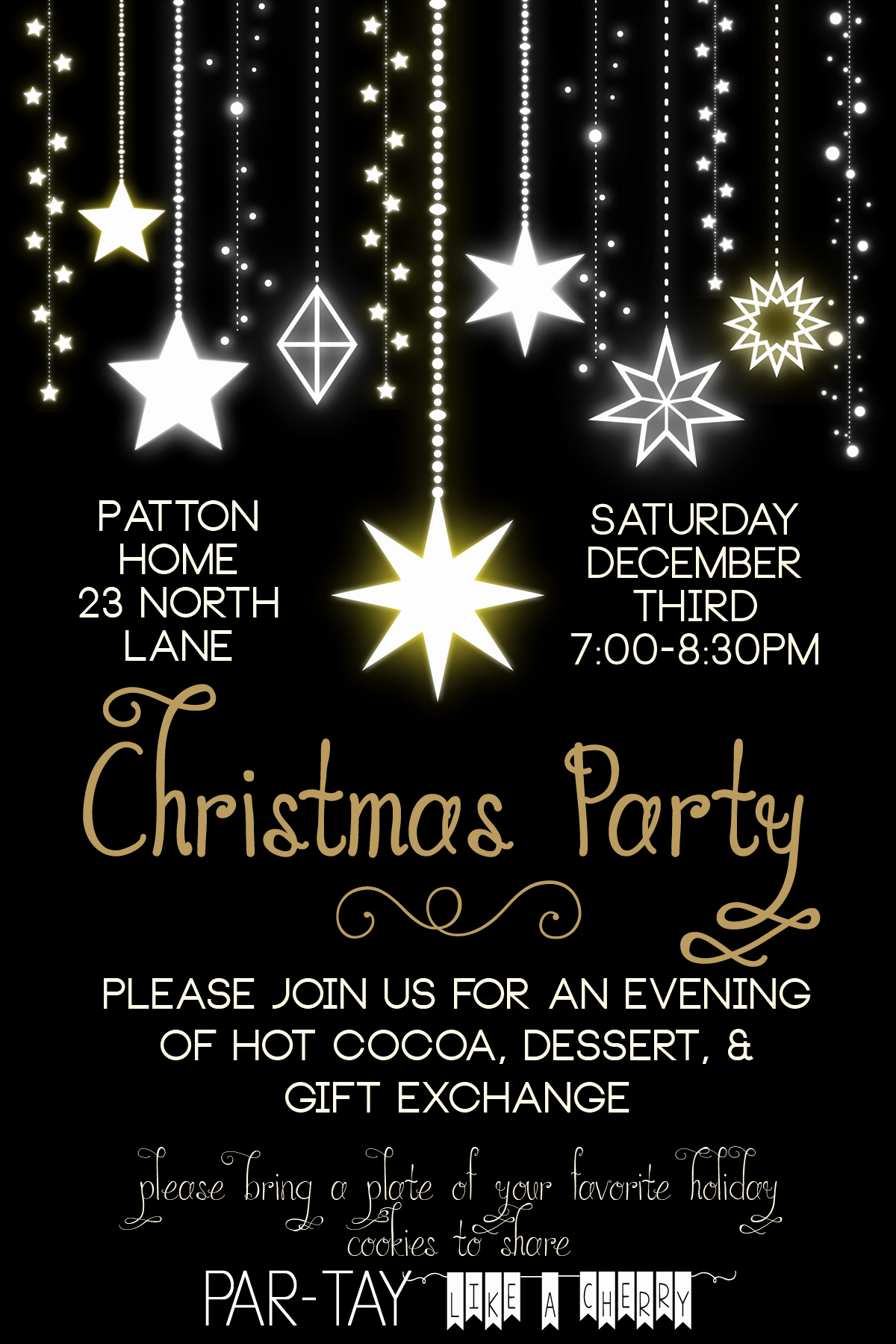 Free Christmas Party Invitations Template Elegant Free Christmas Party Invitation Party Like A Cherry