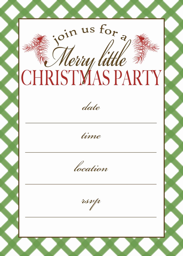 Free Christmas Party Invitations Template Elegant Free Printable Christmas Party Invitation