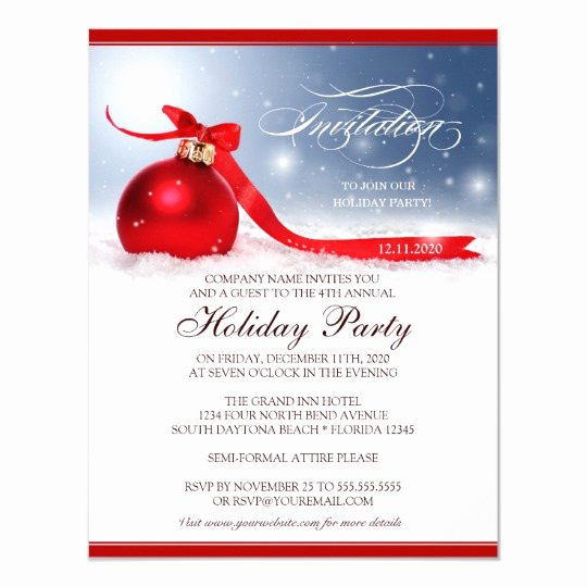 Free Christmas Party Invitations Template Fresh Corporate Holiday Party Invitation Template