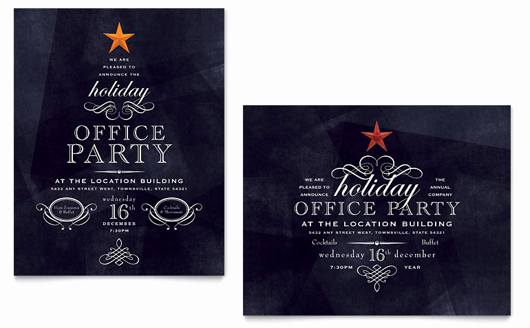 Free Christmas Party Invitations Template Inspirational Fice Holiday Party Poster Template Word & Publisher