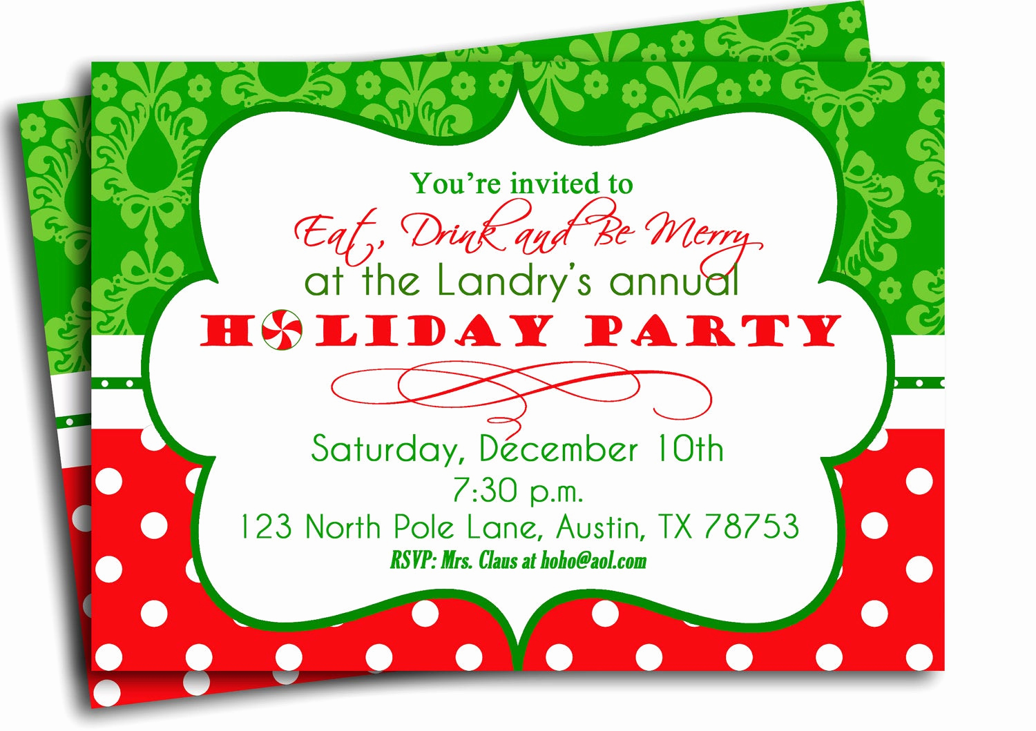Free Christmas Party Invitations Template Luxury Christmas Party Invitation Printable Traditional Holiday