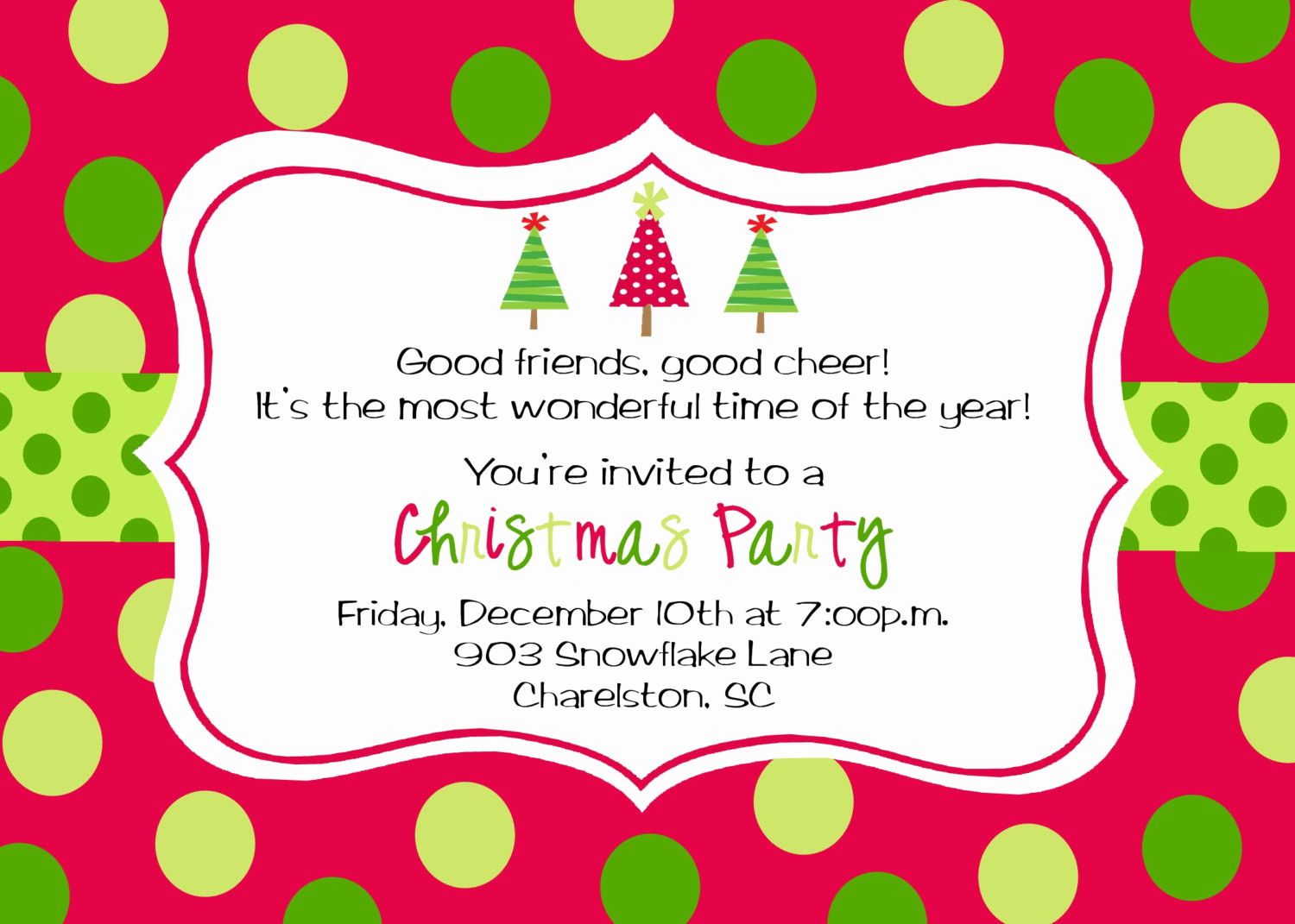 Free Christmas Party Invitations Template Luxury Christmas Party Invitations