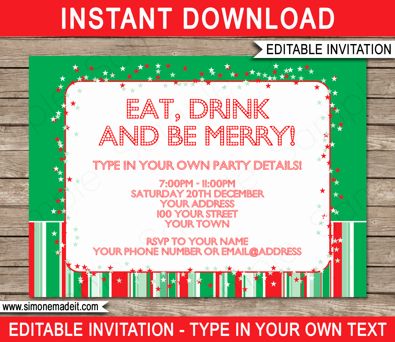 Free Christmas Party Invitations Template Luxury Christmas Party Invitations Template