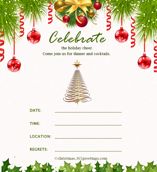 Free Christmas Party Invitations Template Unique Christmas Invitation Template and Wording Ideas