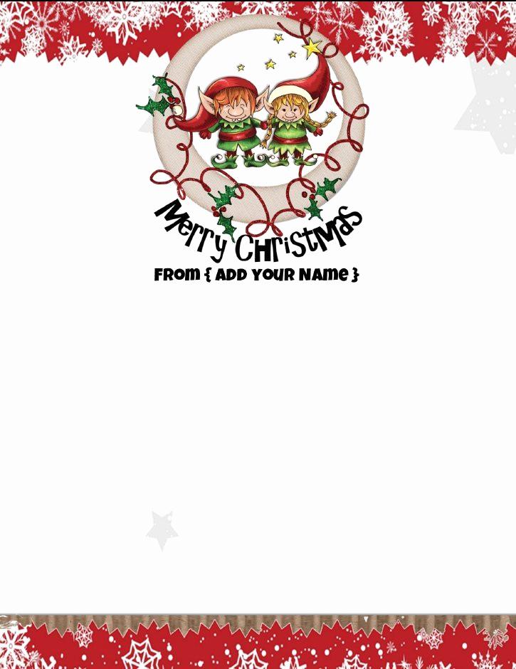 Free Christmas Stationery Templates Fresh Free Personalized Christmas Stationery