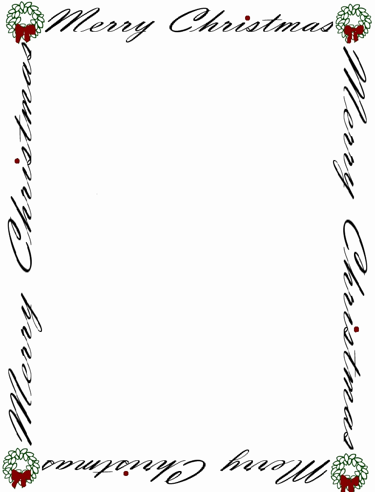 Free Christmas Stationery Templates Unique Free Baby Shower Border Templates Cliparts