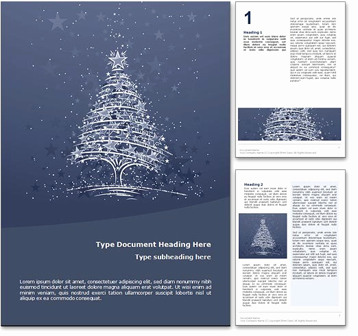 Free Christmas Templates for Word Awesome Royalty Free Christmas Microsoft Word Template In Blue
