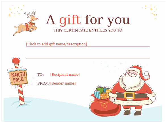Free Christmas Templates for Word Elegant 20 Christmas Gift Certificate Templates Word Pdf Psd