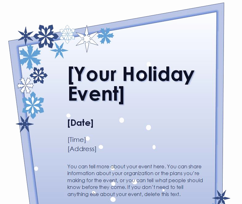 Free Christmas Templates for Word Fresh Holiday Flyer Template
