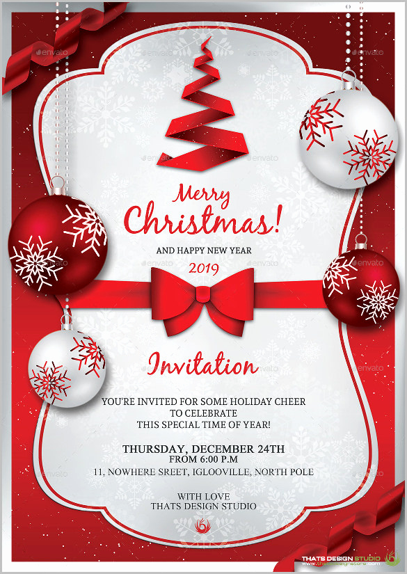 Free Christmas Templates for Word Lovely Christmas Invitation Template – 26 Free Psd Eps Vector