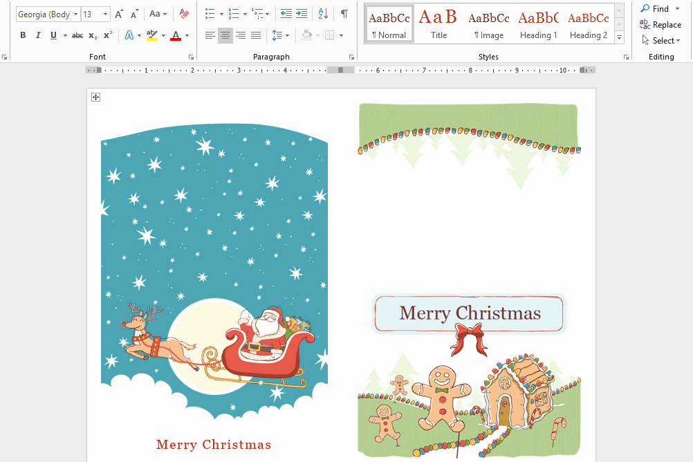 Free Christmas Templates for Word Luxury Microsoft S Best Free Diy Christmas Templates for 2019