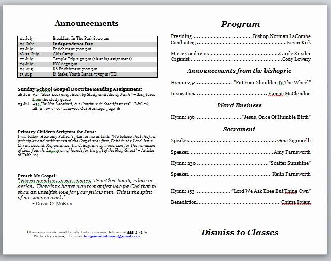 Free Church Bulletin Templates Elegant Church Bulletins