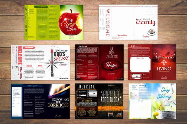 Free Church Bulletin Templates Elegant Free Church Bulletin Templates 8 Professionally Designed