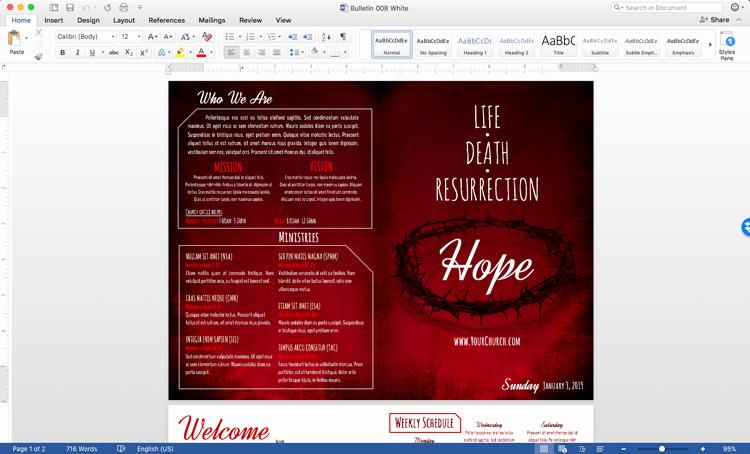Free Church Bulletin Templates Fresh Free Church Bulletin Templates Customize In Microsoft Word