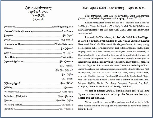 Free Church Bulletin Templates New Church Bulletin Templates
