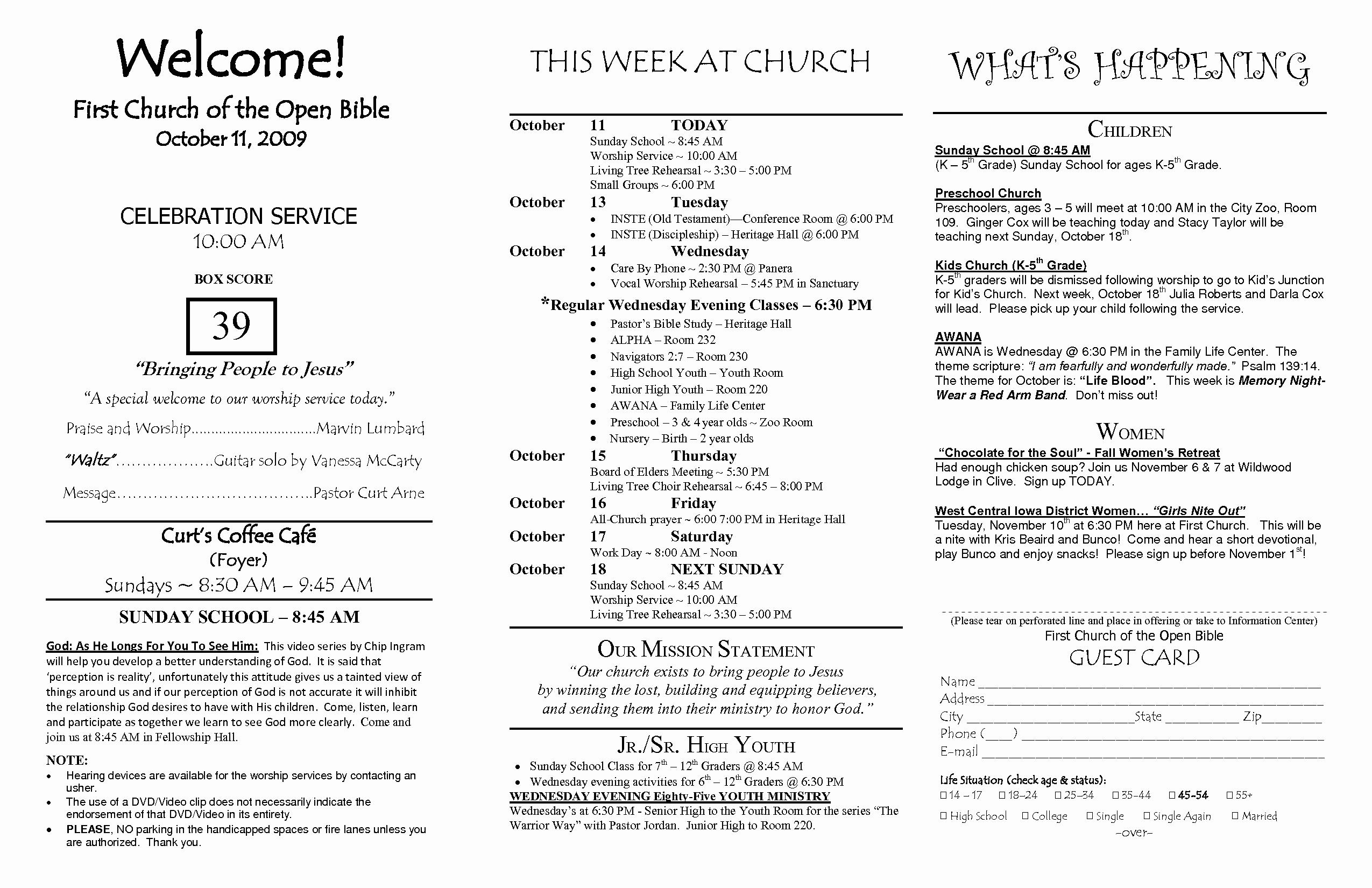 Free Church Bulletin Templates Unique Church Bulletin Templates