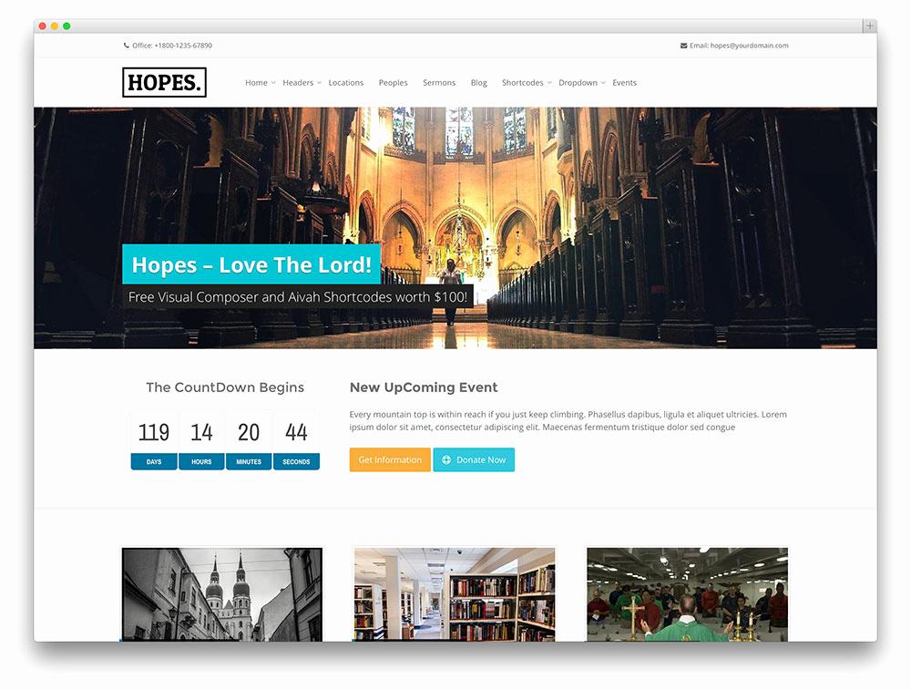 Free Church Wordpress themes Lovely 30 Best Wordpress Church themes 2017 Colorlib