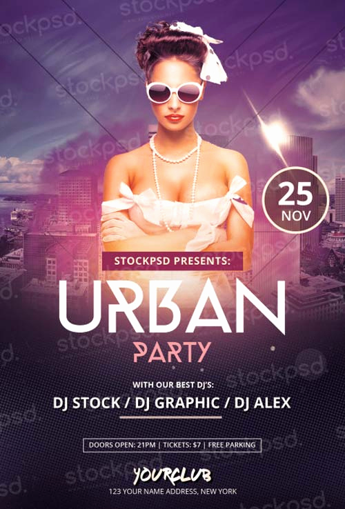 Free Club Flyer Templates Awesome Download Urban Party Free Psd Flyer Template for Shop