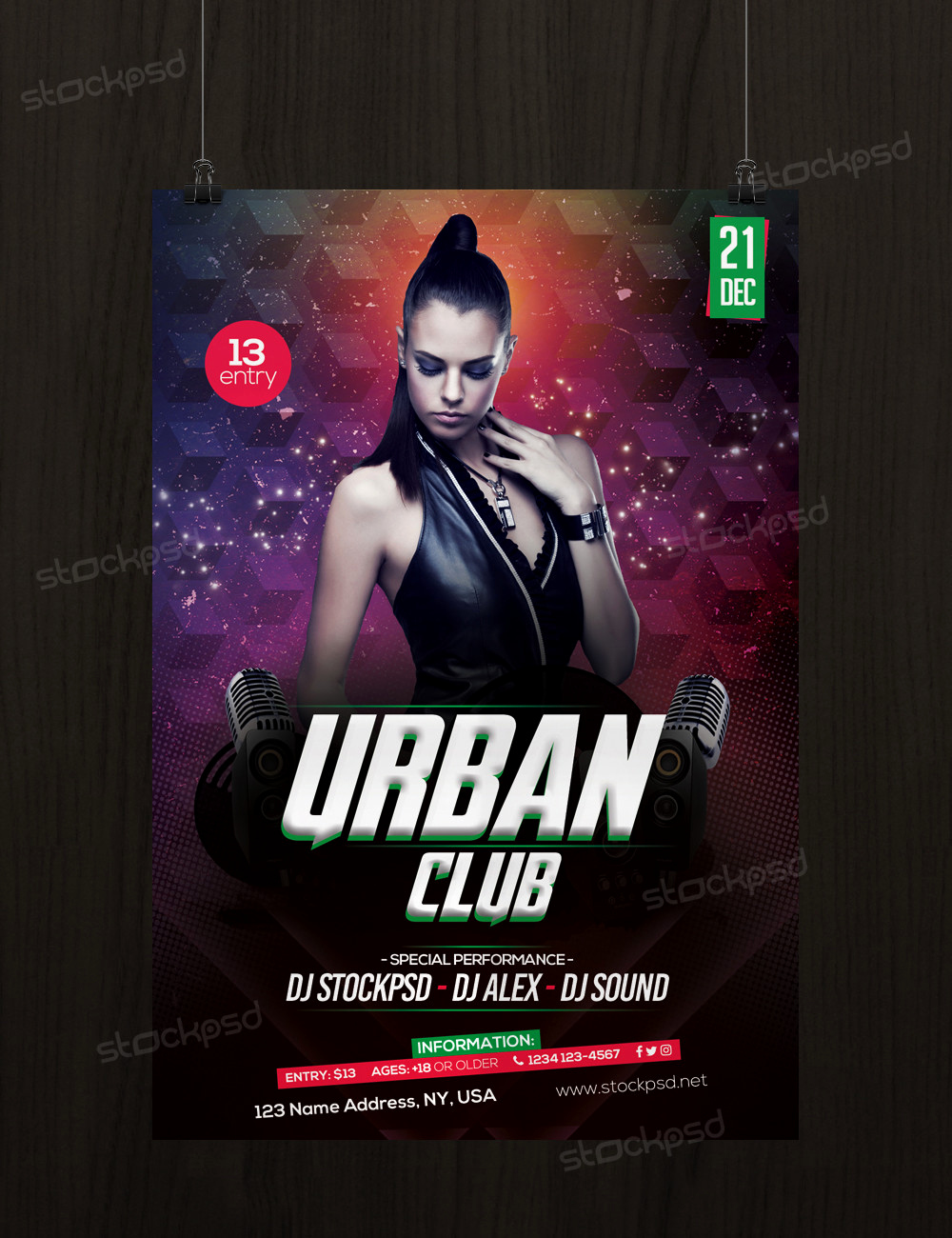 Free Club Flyer Templates Beautiful Urban Club Download Free Psd Flyer Template Stockpsd
