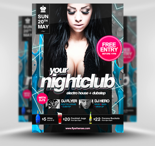Free Club Flyer Templates Best Of 30 Amazing Free Flyer Templates From Flyerheroes Extras