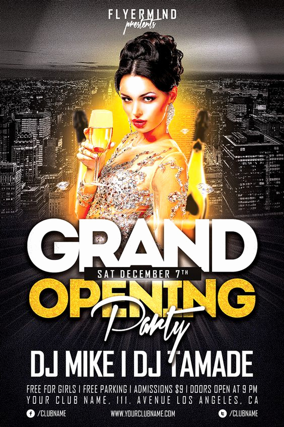 Free Club Flyer Templates Best Of Grand Opening Party Free Club Psd Flyer Template